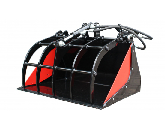 Mini Loader Bucket with Grapple