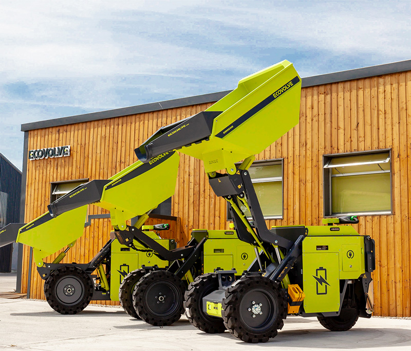Ecovolve Electric High Tip Dumper range