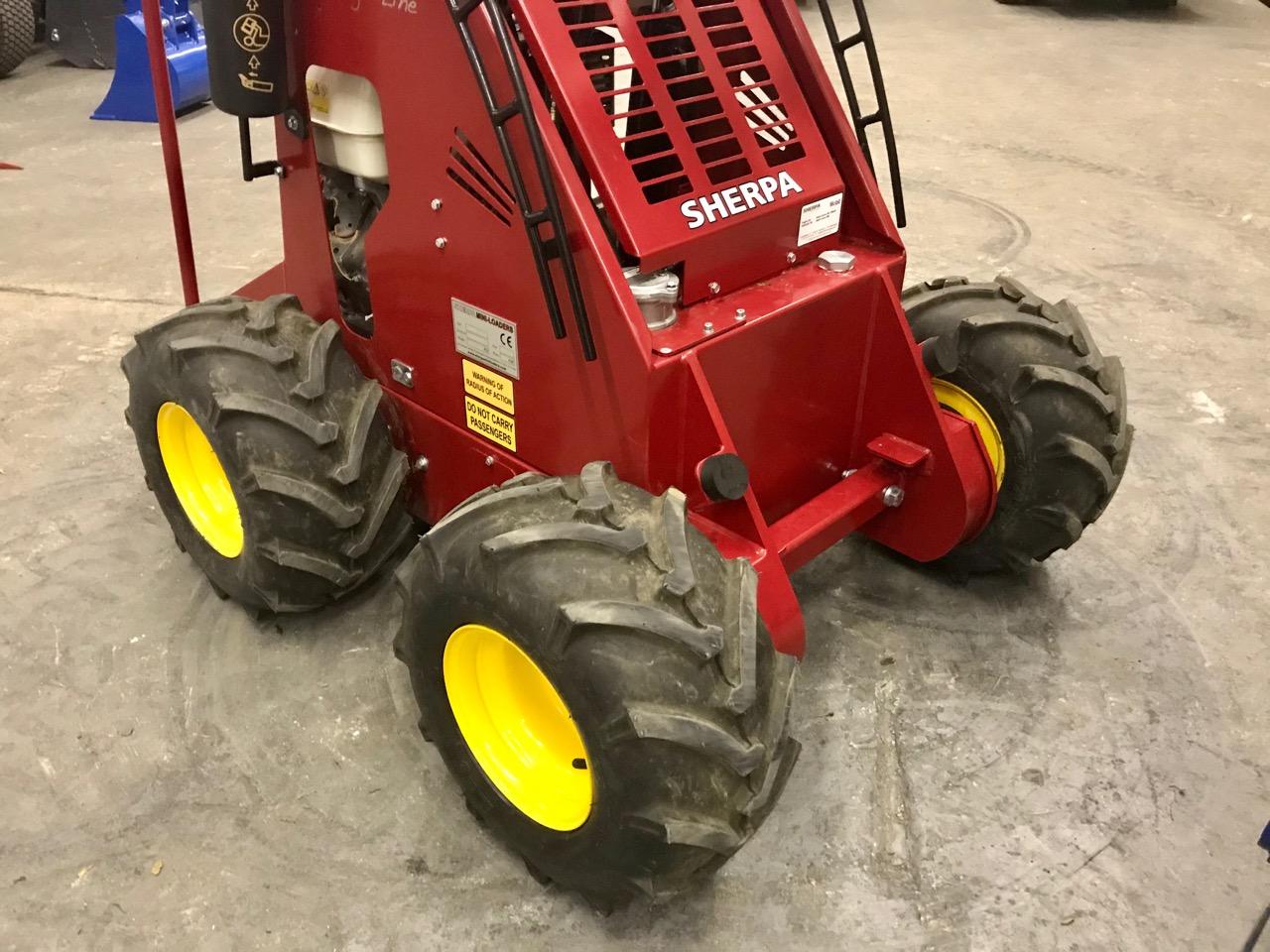 large wheels for Sherpa Mini Loader