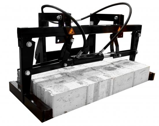 00790Hydraulic curbstone grab for sherpa miniloaders - Hydraulische Blokkenklem
