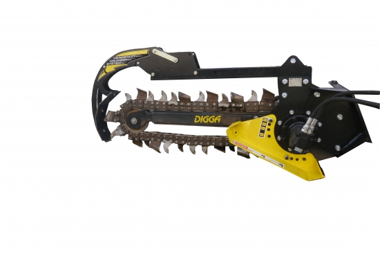 DIGGA hydraulic trencher for sherpa mini skidsteer loader